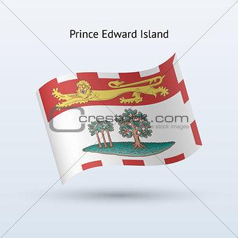Canadian province of Prince Edward Island flag waving form.