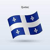 Canadian province of Quebec flag waving form.