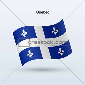 Canadian province of Quebec flag waving form.