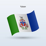 Canadian territory of Yukon flag waving form.