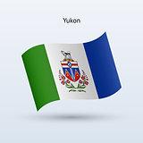 Canadian territory of Yukon flag waving form.