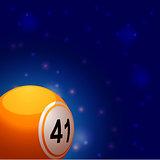 Bingo ball into space background