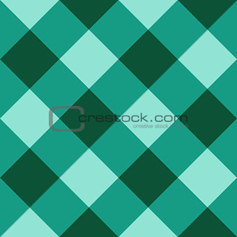 Green checkered diagonal seamless background