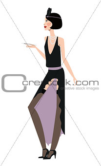 Flapper girl Retro party 20s-30s style