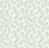 Herbs seamless pattern. Dill endless background, texture. Vegetable backdrop. Vector illustration.