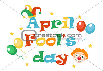 April Fools' Day vector. Holiday laughing card, poster. Vector illustration.