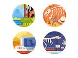 Archeology set of icons.