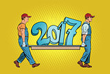 The ending 2017, figures carry movers