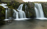 The famous Godafoss in Iceland