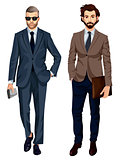 Modern fashionable businessmen