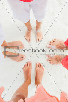 Top view image of feet.