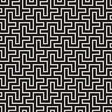 Maze Tangled Lines Contemporary Graphic. Vector Seamless Black and White Pattern.