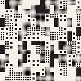 Endless Abstract Background With Random Size Squares. Vector Seamless Pattern.