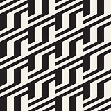 Repeating Slanted Stripes Modern Texture. Monochrome Geometric Seamless Pattern.