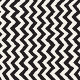 Seamless Wavy Hand Drawn Stripes Pattern. Repeating Vector Texture.
