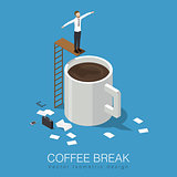 Coffee break concept illustration