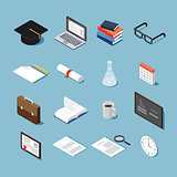 Isometric college objects set