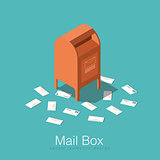 Isometric mail box