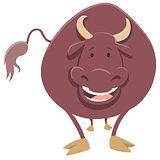 bull farm animal character