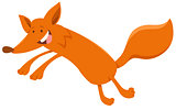 happy fox animal character