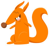 cartoon squirrel animal character