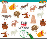 find one of a kind game for kids