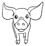pig or piglet coloring page