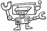 robot character coloring page
