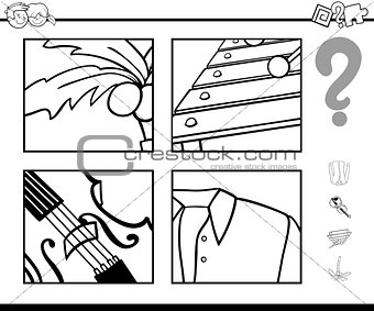 guess object coloring page