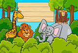 wild animal characters background