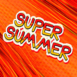 Super Summer - Comic book style word.