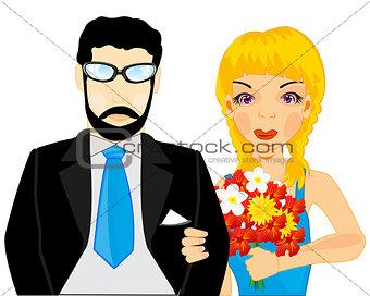 Pair man and woman