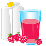 Juice from raspberry