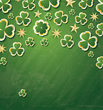 Clover Pattern for St. Patrick's Day with Copy Space.