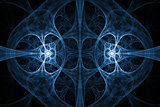Blue abstract fractal design