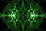 Green abstract fractal design