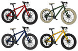 Four color fatbikes