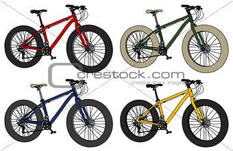 Four color fatbikes