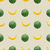 Seamless fruit background, vector illustration.