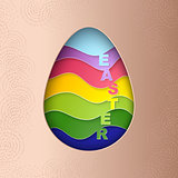 Easter Egg with Strips Pattern Texture