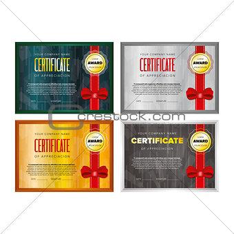 Certificate design set