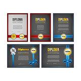 Diploma, certificate design set