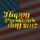 Happy President Day golden banner