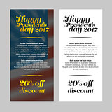 Happy President Day sale banner