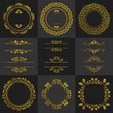 Golden Decorative frames vintage