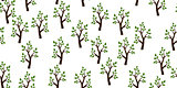 Trees seamless pattern