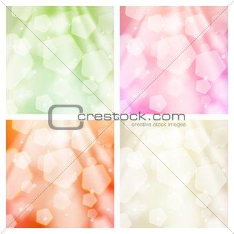 Abstract bokeh backgrounds set