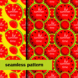 set of seamless pattern with Watermelon. vector