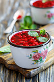 Vitamin jelly from fresh cranberries.