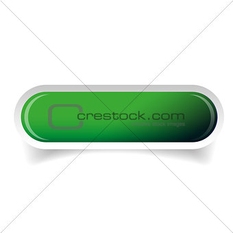 Green glossy web bar button vector